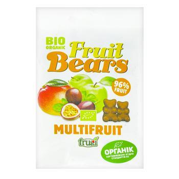 Жевательные конфеты Fruit Bears Мультифрукт органические 50г