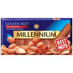 Millennium Golden Nut Milk Chocolate with Whole Almonds 90g - buy, prices for CityMarket - photo 1