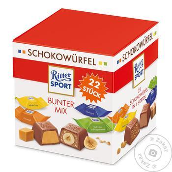 Набор шоколадных конфет Ritter Sport Schokowürfel Vielfalt ассорти 176г