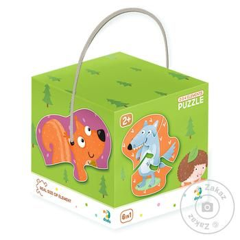 DoDo Puzzle 2-3-4 Elements Forest Animals 9 elements - buy, prices for MegaMarket - image 1