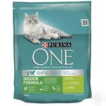 Корм сухой Purina ONE Indoor С индейкой и цельными злаками для взрослых котов 800г