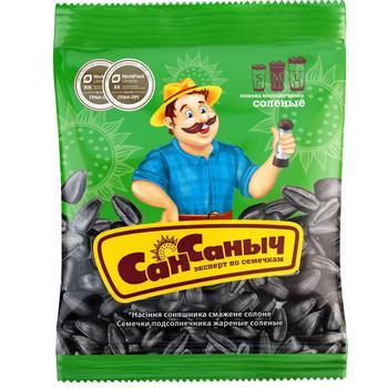 San Sanych Roasted Salt Sunflower Seeds 75g - buy, prices for CityMarket - photo 1