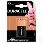 Щелочные батарейки Duracell 9В, 1 шт. в упаковке