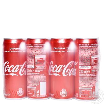 Напиток Coca-Cola сильногазированный 0,33л опт*12шт