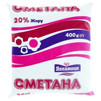Сметана Лукавица 20% 450г пленка Украина - купить, цены на Фуршет - фото 1