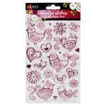 Santi Birds Set of Decorative Stickers with a Foil and Stamping 14x21cm