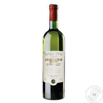 Вино Зоря Кахетії Алазанська долина біле напівсолодке 11-12.5% 0,75л - купити, ціни на CітіМаркет - фото 1