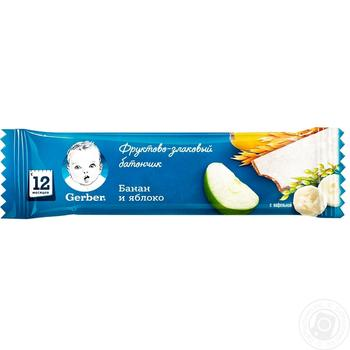Gerber Bar cereal banana-apple 25g - buy, prices for Auchan - photo 2