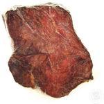 Meat Zakarpatski kovbasy raw smoked vacuum packing