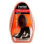 Губка Twist чорна з дозатором для шкіри