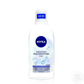 Мицеллярная вода Nivea Освежающая 400мл