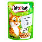 Корм для котов Kitekat с телятиной в соусе 100г