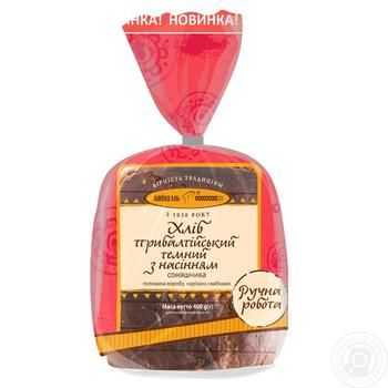 Kyivhlib Baltic dark with sunflower seeds half cutted bread 400g - buy, prices for Novus - image 3