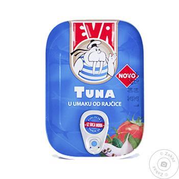 Филе тунец Ева натура консервированная 80г
