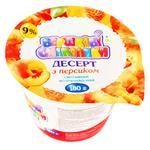 Десерт Вершкові Смаколики сметанний молоковмісний з персиком 9% 180г