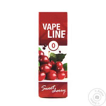 Жидкость Vape Line Sweet cherry для электронных сигарет 6 мг 10 мл - купить, цены на Ашан - фото 1