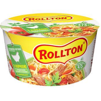 Локшина Роллтон яєчна з куркою по-домашньому 75г - купити, ціни на CітіМаркет - фото 1