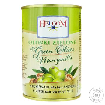 Olives Helcom green stuffed anchovy 300ml - buy, prices for Furshet - image 1