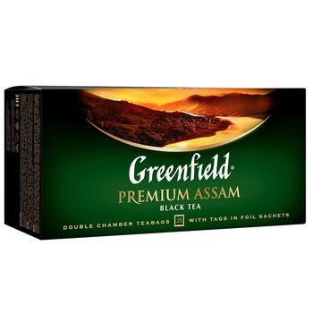 Greenfield Premium Assam Black Tea in Bags 2g x 25pcs - buy, prices for Novus - image 1