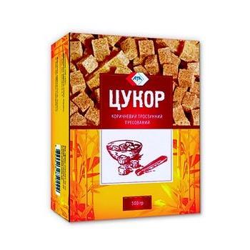 Сахар АТА тростниковый коричневый прессованный 500г - купить, цены на Novus - фото 1