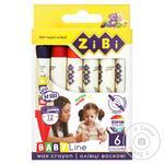 ZiBi Baby Line Wax Pencils 6 colors