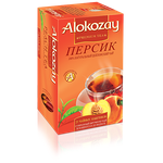Чай Alokozay 100% натуральний цейлонський чорний Персик пакетований 25шт 50г