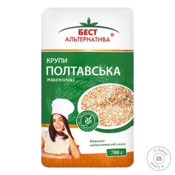 Крупа Бест Альтернатива Полтавская № 3 пшеничная 700г - купить, цены на МегаМаркет - фото 1