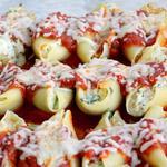 Конкильони с грибами и брокколи