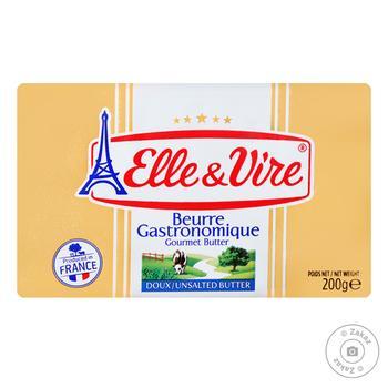 Масло Elle&Vire вершкове несолоне 82% 200г
