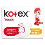 Прокладки Kotex Young Normal с крылышками 10шт