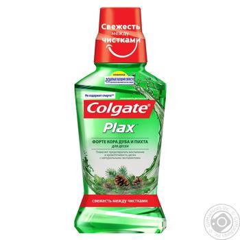 Ополаскиватель полости рта Colgate PLAX Форте Кора дуба и Пихта для десен антибактериальное действие 250мл - купить, цены на Фуршет - фото 2