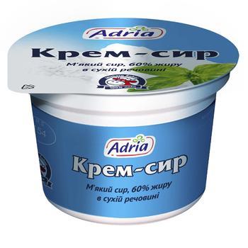 Крем-сыр Адриа мягкий 60% 100г - купить, цены на МегаМаркет - фото 1