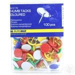 Кнопки канцелярские Buromax цветные в пластиковом контейнере 100шт