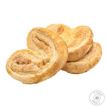 Печенье сдобное Norsu Ушки весовое - купить, цены на Фуршет - фото 1