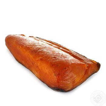 Филе Масляной рыбы холодного копчения весовое - купить, цены на Ашан - фото 1
