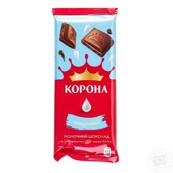 Шоколад Корона молочный 85г - купить, цены на Novus - фото 2
