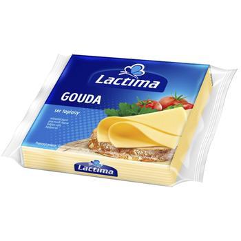 Сыр Лактима Гауда плавленый нарезанный 36.2% 8х16.25г - купить, цены на Novus - фото 1