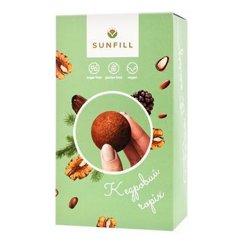 Конфеты Sunfill с кедровым орехом без сахара и глютена 150г - купить, цены на Восторг - фото 1