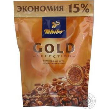 Кава розчинна Tchibo Gold Selection м/у 150г