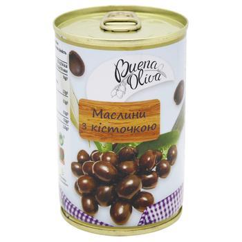 Маслины Buena Oliva с косточкой 314мл