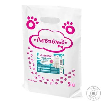 Leopold Cat Food Dry with Fish 5kg - buy, prices for Furshet - image 1
