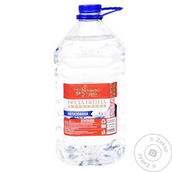 Вода питна Українська Зірка негазована оброблена 6л