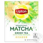 Чай Липтон Магнифисент Матча зелений с имбирем 18х1.5г