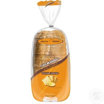 Хліб Київхліб Ніжний для тостів нарізаний 580г