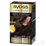 Фарба для волосся без аміаку SYOSS Oleo Intense 4-86 Шоколадний каштановий 115мл