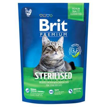 Корм сухий Brit Premium для стерилізованих котів 1,5кг - купити, ціни на УльтраМаркет - фото 1