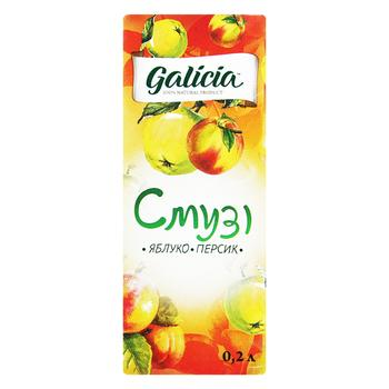 Смузи Galicia Яблоко-персик 0,2л - купить, цены на Novus - фото 1