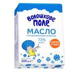 Масло Волошковое Поле Селянське сладкосливочное 73% 200г
