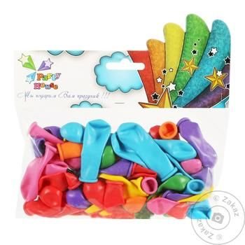 Party House Assorted Air Balloon 50pc - buy, prices for CityMarket - photo 1