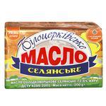 Масло Белоцерковское Крестьянское сладкосливочное 72,6% 200г